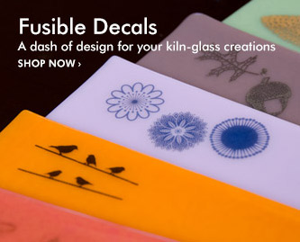 Fusible Decals. A dash of design for your kiln-glass creations.