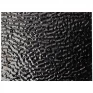 Black Opalescent, Soft Ripple Texture, 3 mm, Fusible, 10x10 in.