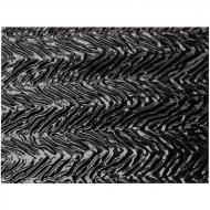 Black Opalescent, Herringbone Ripple, 3 mm, Fusible, 10x10 in.