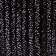 Black Opalescent, Herringbone Ripple, 3 mm, Color Sample, 2x2 in.