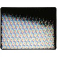 Black Opalescent, Double-rolled, Iridescent, patterned, 3 mm, Fusible, 10x10 in.