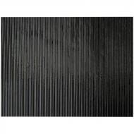 Black Opalescent, Reeded Texture, 3 mm, Fusible, 35x20 in., Full Sheet