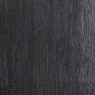 Black Opalescent, Thin, Reeded Texture, 2 mm, Color Sample, 2x2 in.