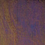 Black Opalescent, Reeded Texture, Iridescent, rainbow, 3 mm, Color Sample, 2x2 in.