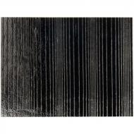 Black Opalescent, Accordion, 3 mm, Color Sample, 2x2 in.