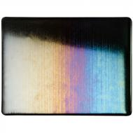 Black Opalescent, Accordion, Iridescent, rainbow, 3 mm, Fusible, 17x20 in., Half Sheet