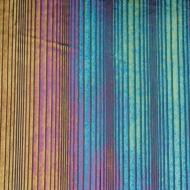 Black Opalescent, Thin, Accordion Texture, Iridescent, rainbow, 2 mm, Color Sample, 2x2 in.