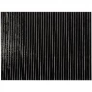 Black Opalescent, Prismatic Texture, 3 mm, Fusible, 10x10 in.