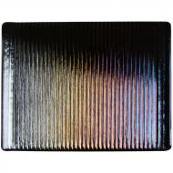 Black Opalescent, Prismatic Texture, Iridescent, 3 mm, Fusible, 17x20 in., Half Sheet