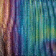 Black Opalescent, Prismatic Texture, Iridescent, 3 mm, Color Sample, 2x2 in.