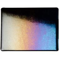 Black Opalescent, Thin-rolled, Iridescent, rainbow, 2 mm, Fusible, 10x10 in.