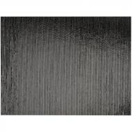 Black Opalescent, Thin, Reeded Texture, 2 mm, Fusible, 17x20 in., Half Sheet