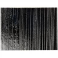 Black Opalescent, Thin, Accordion Texture, 2 mm, Fusible, 10x10 in.