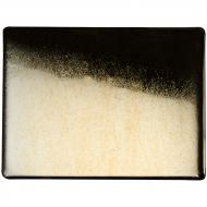 Black Opalescent, Thin, Iridescent, gold, 2 mm, Fusible, 17x20 in., Half Sheet