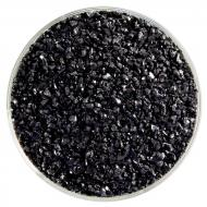 Stiff Black Opalescent, Medium Frit, Fusible, 5 oz. jar