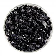 Stiff Black Opalescent, Coarse Frit, Fusible, 5 oz. jar