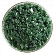 Dark Forest Green Opalescent, Coarse Frit, Fusible, 5 lb. jar