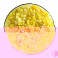 Sunflower Yellow Opalescent, Coarse Frit, Fusible, 5 oz. jar