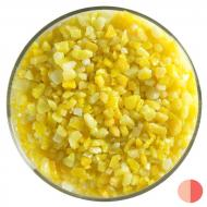 Sunflower Yellow Opalescent, Coarse Frit, Fusible, 1 lb. jar
