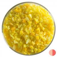 Marigold Yellow Opalescent, Coarse Frit, Fusible, 5 oz. jar