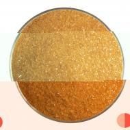 Burnt Orange Opalescent, Fine Frit, Fusible, 5 oz. jar