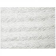 Clear Transparent, Herringbone Ripple, 3 mm, Fusible, 10x10 in.