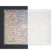 Clear Transparent, Soft Ripple Texture, Iridescent, 3 mm, Fusible, 17x20 in., Half Sheet