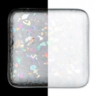 Clear Transparent, Coarse Frit, Iridescent, rainbow, Fusible, 1 lb. jar
