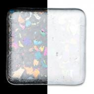 Clear Transparent, Extra Large Frit, Iridescent, rainbow, Fusible, 5 lb. jar