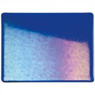 Deep Royal Blue Transparent, Double-rolled, Iridescent, rainbow, 3 mm, Color Sample, 2x2 in.
