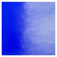 Deep Royal Blue Transparent, Double-rolled, Iridescent, silver, 3 mm, Fusible, 10x10 in.