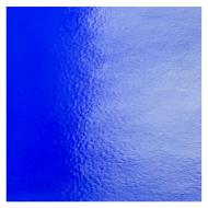 Deep Royal Blue Transparent, Double-rolled, Iridescent, silver, 3 mm, Fusible, 35x20 in., Full Sheet