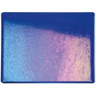 Deep Royal Blue Transparent, Thin-rolled, Iridescent, rainbow, 2 mm, Fusible, 17x20 in., Half Sheet