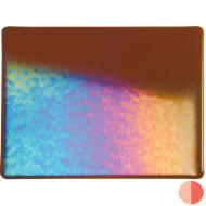 Sienna Transparent, Double-rolled, Iridescent, rainbow, 3 mm, Fusible, 10x10 in.