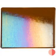 Sienna Transparent, Thin-rolled, Iridescent, rainbow, 2 mm, Color Sample, 2x2 in.