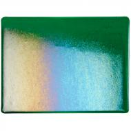 Kelly Green Transparent, Thin-rolled, Iridescent, rainbow, 2 mm, Fusible, 10x10 in.