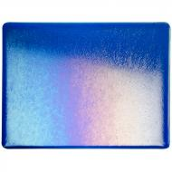 Caribbean Blue Transparent, Thin-rolled, Iridescent, rainbow, 2 mm, Fusible, 10x10 in.