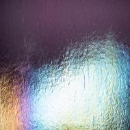 Amethyst Transparent, Double-rolled, Iridescent, rainbow, 3 mm, Fusible, 10x10 in.