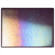 Amethyst Transparent, Double-rolled, Iridescent, rainbow, 3 mm, Fusible, 17x20 in., Half Sheet