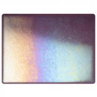 Amethyst Transparent, Thin-rolled, Iridescent, rainbow, 2 mm, Fusible, 17x20 in., Half Sheet