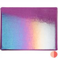 Violet Transparent, Thin-rolled, Iridescent, rainbow, 2 mm, Fusible, 10x10 in.