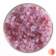 Cranberry Pink Transparent, Coarse Frit, Fusible, 1 lb. jar
