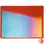 Carnelian Transparent, Double-rolled, Iridescent, rainbow, 3 mm, Fusible, 10x10 in.