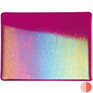 Fuchsia Transparent, Double-rolled, Iridescent, rainbow, 3 mm, Color Sample, 2x2 in.