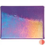 Gold Purple Transparent, Double-rolled, Iridescent, rainbow, 3 mm, Color Sample, 2x2 in.