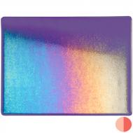 Gold Purple Transparent, Thin-rolled, Iridescent, rainbow, 2 mm, Color Sample, 2x2 in.