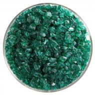 Emerald Green Transparent, Coarse Frit, Fusible, 1 lb. jar