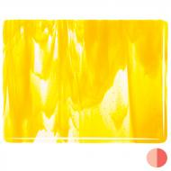Clear, Sunflower Yellow Opal 2-Color Mix, Double-rolled, 3 mm, Color Sample, 2x2 in.