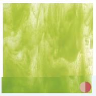 Clear, Spring Green Opal 2-Color Mix, Double-rolled, 3 mm, Fusible, 17x20 in., Half Sheet