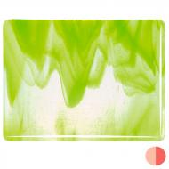 Clear, Spring Green Opal 2-Color Mix, Double-rolled, 3 mm, Fusible, 35x20 in., Full Sheet